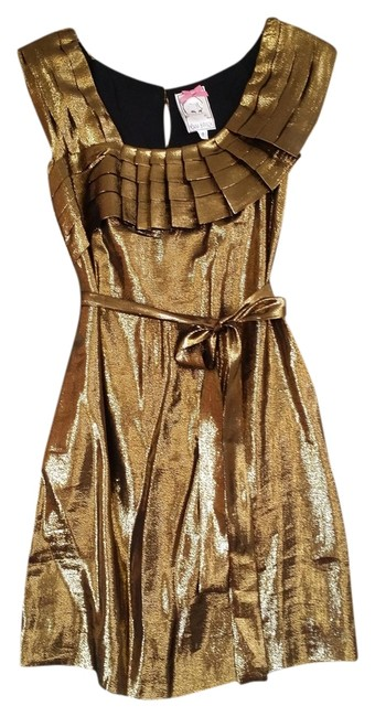 Preload https://img-static.tradesy.com/item/1129779/yoana-baraschi-metallic-bronze-mini-night-out-dress-size-2-xs-0-0-650-650.jpg