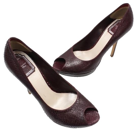 Preload https://item5.tradesy.com/images/dior-burgundy-christian-python-open-toe-stilettos-wine-high-heel-385-pumps-size-us-85-regular-m-b-1129894-0-1.jpg?width=440&height=440