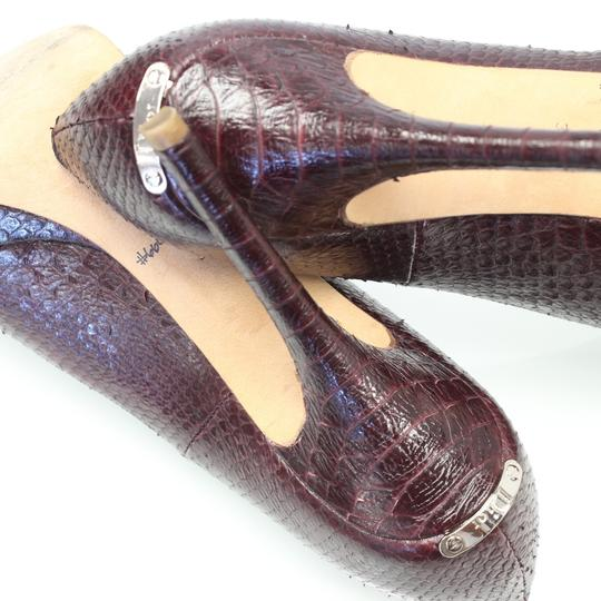 Dior Python Heels Fashion Summer Stiletto Burgundy Pumps