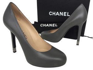 Chanel Heels Classic Dark Grey Pumps
