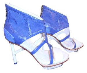 Yohji Yamamoto Bootie Stilletto Mesh white and royal blue Boots