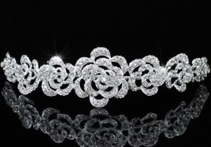Caterina Austrian Crystal Rose Flower Wedding Bridal Tiara Headband