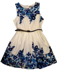 bailey blue short dress White Floral Summer on Tradesy