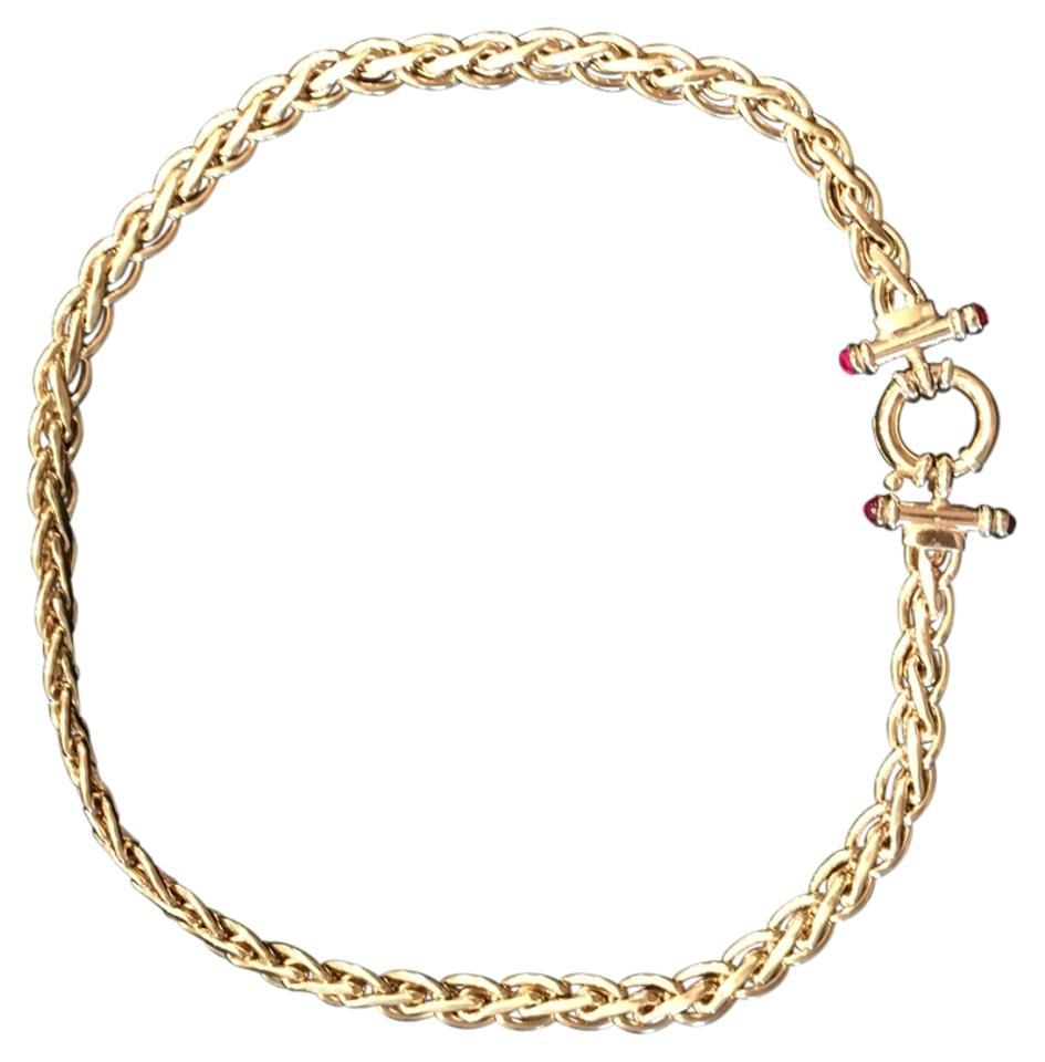 wyr carat chain gold brass plated rope karat