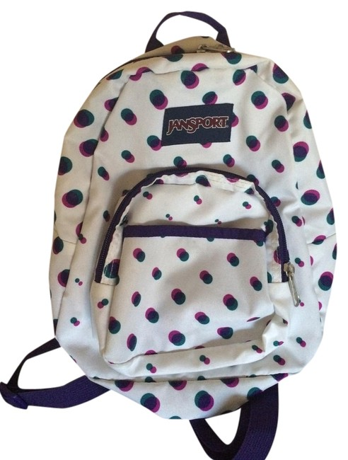 Item - Half Pint White with Purple and Teal Backpack