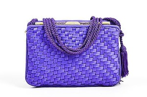 Judith Leiber Woven Satchel in Purple