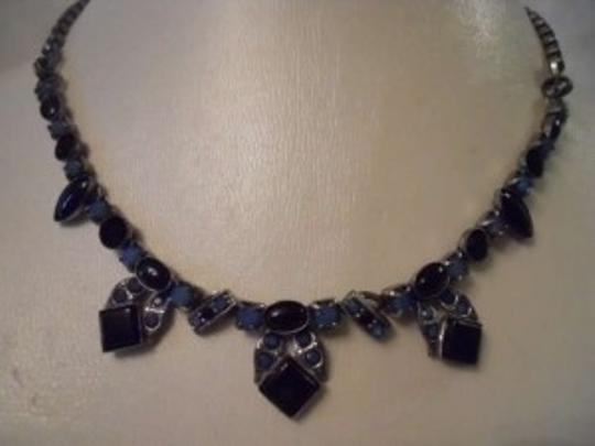 Preload https://item3.tradesy.com/images/black-and-blue-art-deco-semi-precious-stone-necklace-113027-0-0.jpg?width=440&height=440