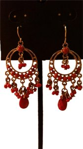 Other Gold and coral earrings