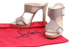 Christian Louboutin Suede Tan Sandals