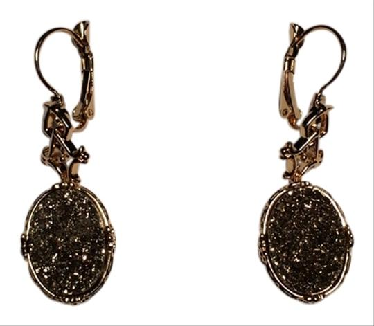 Vicenza - QVC Vicenza Gold Drusy Earrings