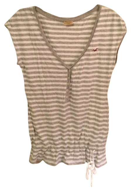 Preload https://img-static.tradesy.com/item/1130572/hollister-gray-and-white-striped-peasant-blouse-size-2-xs-0-0-650-650.jpg