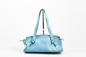 Tod's Tods Aqua Chrome Tone Shoulder Bag