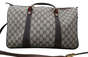 Gucci Strap Boston Travel Large Xxl Monogram Canvas Brown Travel Bag