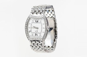 Bedat & Co Bedat Co. Stainless Steel Diamond No. 3 Bracelet Watch