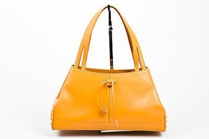 Tod's Tods Camel Tan Leather Satchel in Brown