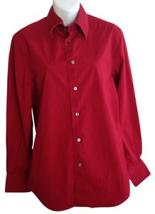 Express Button Down Shirt Red