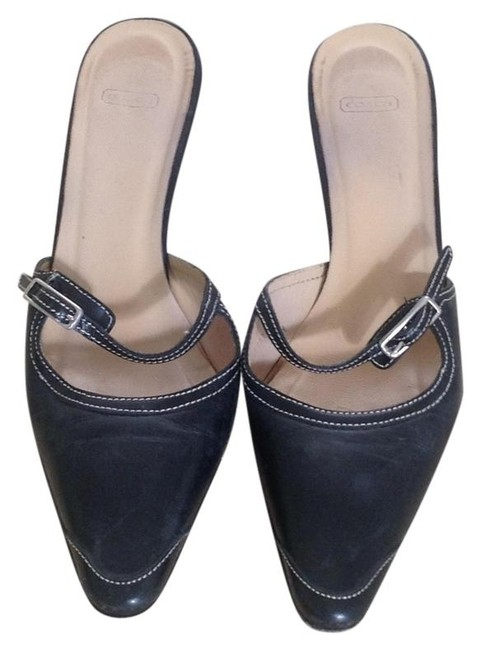 Coach Black Mules/Slides Size US 5.5 Regular (M, B) Coach Black Mules/Slides Size US 5.5 Regular (M, B) Image 1