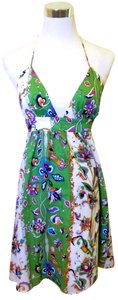 Alice & Trixie short dress Green Floral Halter A-line Empire Waist on Tradesy