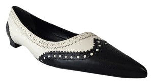 Gucci Black White Gia Brogue Black/White Flats