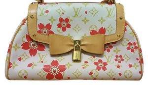 Louis Vuitton Cherry Blossom Limited Edition Satchel in Pink and Red Multicolore