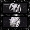 Silver 3pc Stainless Steel Set Ring Silver 3pc Stainless Steel Set Ring Image 2
