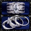 Silver 3pc Stainless Steel Set Ring Silver 3pc Stainless Steel Set Ring Image 3