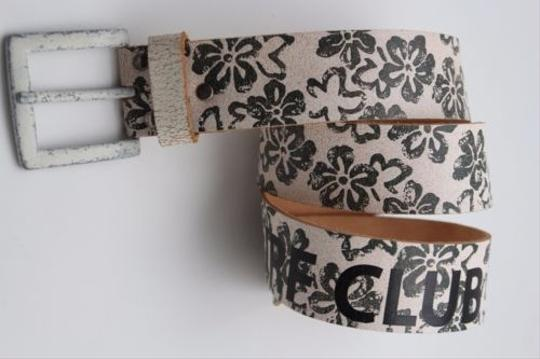 Alwaystyle4you Women Boho Belt L Brown Faux Leather Black Flowers Square Buckle Image 5