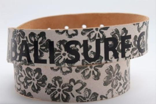 Alwaystyle4you Women Boho Belt L Brown Faux Leather Black Flowers Square Buckle Image 7