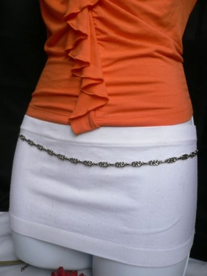 Alwaystyle4you Women Silver Metal Chains Thin Narrow Skinny Belt Hip Waist Image 5