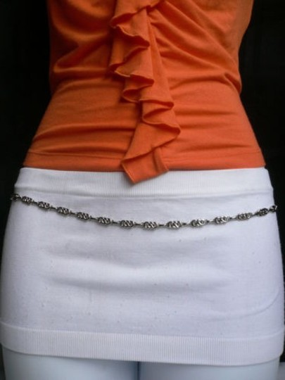 Alwaystyle4you Women Silver Metal Chains Thin Narrow Skinny Belt Hip Waist Image 9