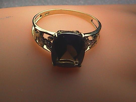 Other 10k Solid Yellow Gold 3.0 cts Smokey Topaz & Diamond Ring