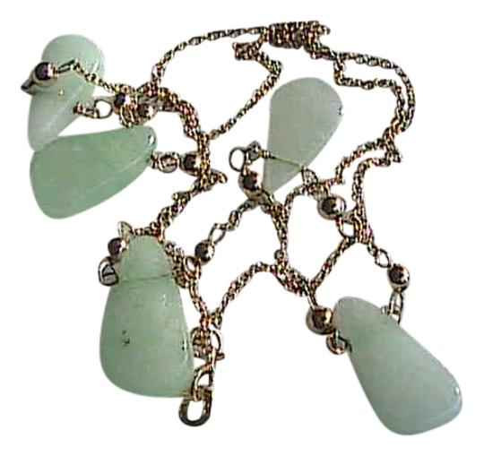Unknown Gorgeous 14k Solid Yellow Gold Jade Necklace