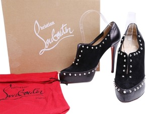Christian Louboutin Red Soles Astraqueen Suede Ankle Black Boots