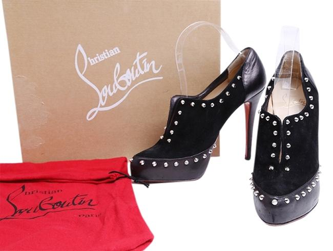 Christian Louboutin Black Astraqueen 120 Studded Suede Ankle Boots/Booties Size US 10 Regular (M, B) Christian Louboutin Black Astraqueen 120 Studded Suede Ankle Boots/Booties Size US 10 Regular (M, B) Image 1