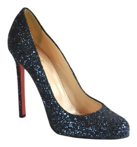 Christian Louboutin Glitter Ron Ron Blue Pumps