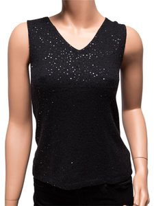 Votre Nom Silk Cashmere Sequined Ma-a10 Top Black