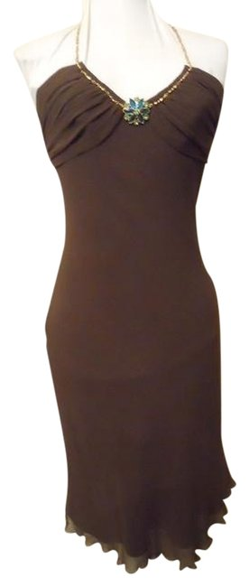 Preload https://item2.tradesy.com/images/express-brown-silk-halter-knee-length-cocktail-dress-size-2-xs-1130921-0-0.jpg?width=400&height=650