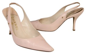 Chanel Leather Lambskin Espadrille Light Pink Pumps