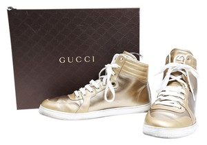 Gucci Limited Edition Sneakers Laces Hi Tops Gold Athletic