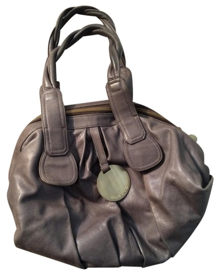 Gustto Leather Satchel in Gray