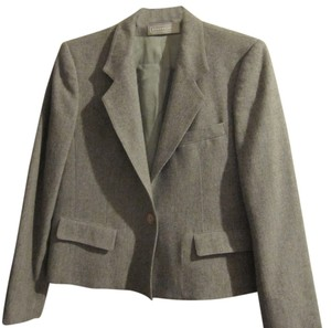 Evan Picone Vintage Wool Jacket Gray Blazer