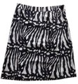 Ann Taylor Cream/Light Gold & Black Silk Zebra Print Skirt Size 6 (S, 28) Ann Taylor Cream/Light Gold & Black Silk Zebra Print Skirt Size 6 (S, 28) Image 4