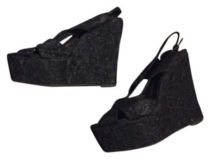 Jeffrey Campbell Black (lace) Wedges