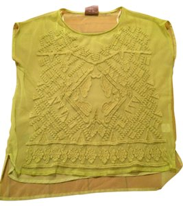 Romeo & Juliet Couture Polyester Sheer Top Green