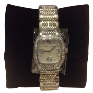 David Yurman Thoroughbred 25mm Stainless Steel and Sterling Silver Quartz Watch with Diamonds