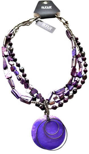 Preload https://item5.tradesy.com/images/ana-a-new-approach-ana-purple-shell-necklace-1131199-0-0.jpg?width=440&height=440