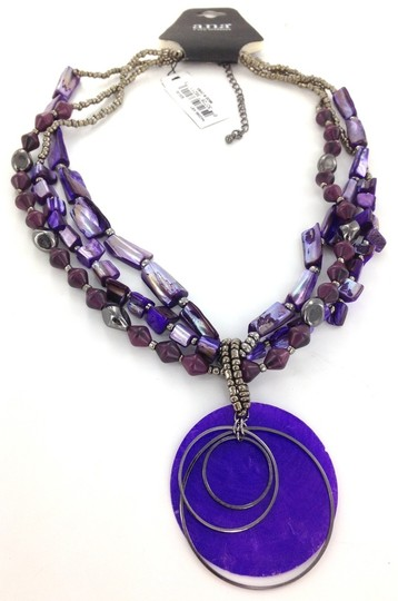 A.N.A. a new approach A.N.A Purple Shell Necklace