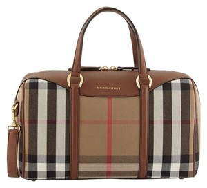 Burberry Purse Tote Black Satchel in Tan