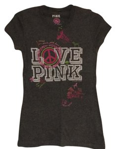 PINK T Shirt Heather Grey