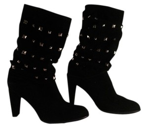 Stuart Weitzman Studded Suede Slouchy black Boots